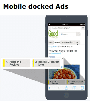 mobile docked ads