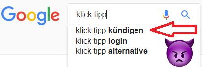 Klick Tipp kündigen